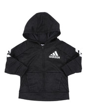 Outerwear - Hooded Melange Jacket (2T-4T)-2452083