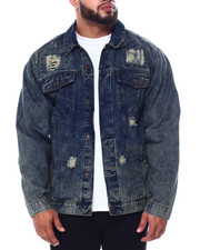 Big & Tall - Denim Rip + Repair Jacket (B&T)-2451458