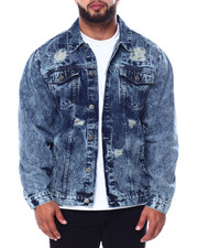 Big & Tall Faves - Denim Rip + Repair Jacket (B&T)-2451463