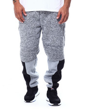 Joggers - Fleece Motto Zipper Joggers (B&T)-2453374
