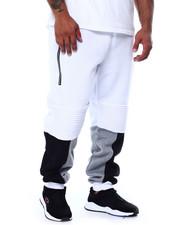 Big & Tall - Fleece Motto Zipper Joggers (B&T)-2452923