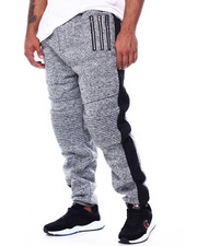Joggers - Fleece Motto Zipper Joggers (B&T)-2452935