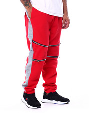 Joggers - Fleece Motto Zipper Joggers (B&T)-2452954
