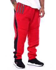 Big & Tall - Fleece Motto Zipper Joggers (B&T)-2452947