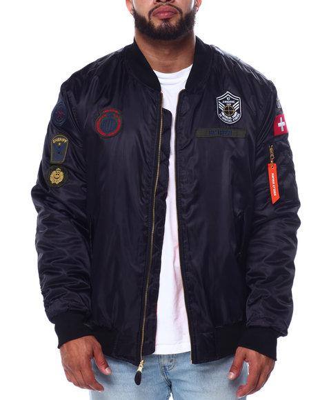 Phat Farm - Filled Flight Jacket W/Patches (B&T)