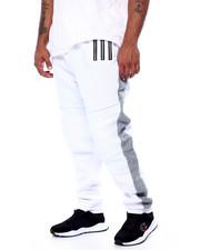 Big & Tall - Fleece Motto Zipper Joggers (B&T)-2452836