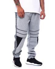 Big & Tall - Fleece Motto Zipper Joggers (B&T)-2452861