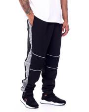 Joggers - Fleece Motto Zipper Joggers (B&T)-2452769