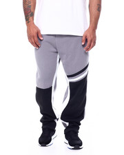Sweatpants - Color Block Fleece Pants (B&T)-2452962