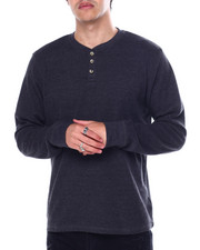Henleys - Long Sleeve Crew Neck Henley Thermal-2452730