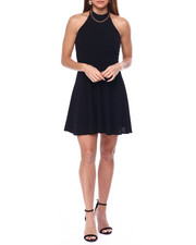 Fashion Lab - Halter Neck S/L Skater Dress-2452553