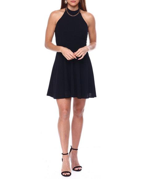 Fashion Lab - Halter Neck S/L Skater Dress