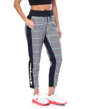 Women - Tricot Track Pant Slim Leg-Houndstooth All Over Print-2447824