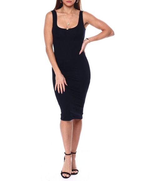 Fashion Lab - S/L Tank Dress w/ Slit Back
