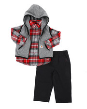 Infant & Newborn - Flannel Vest 3pc Gift Set (Infant)-2444847