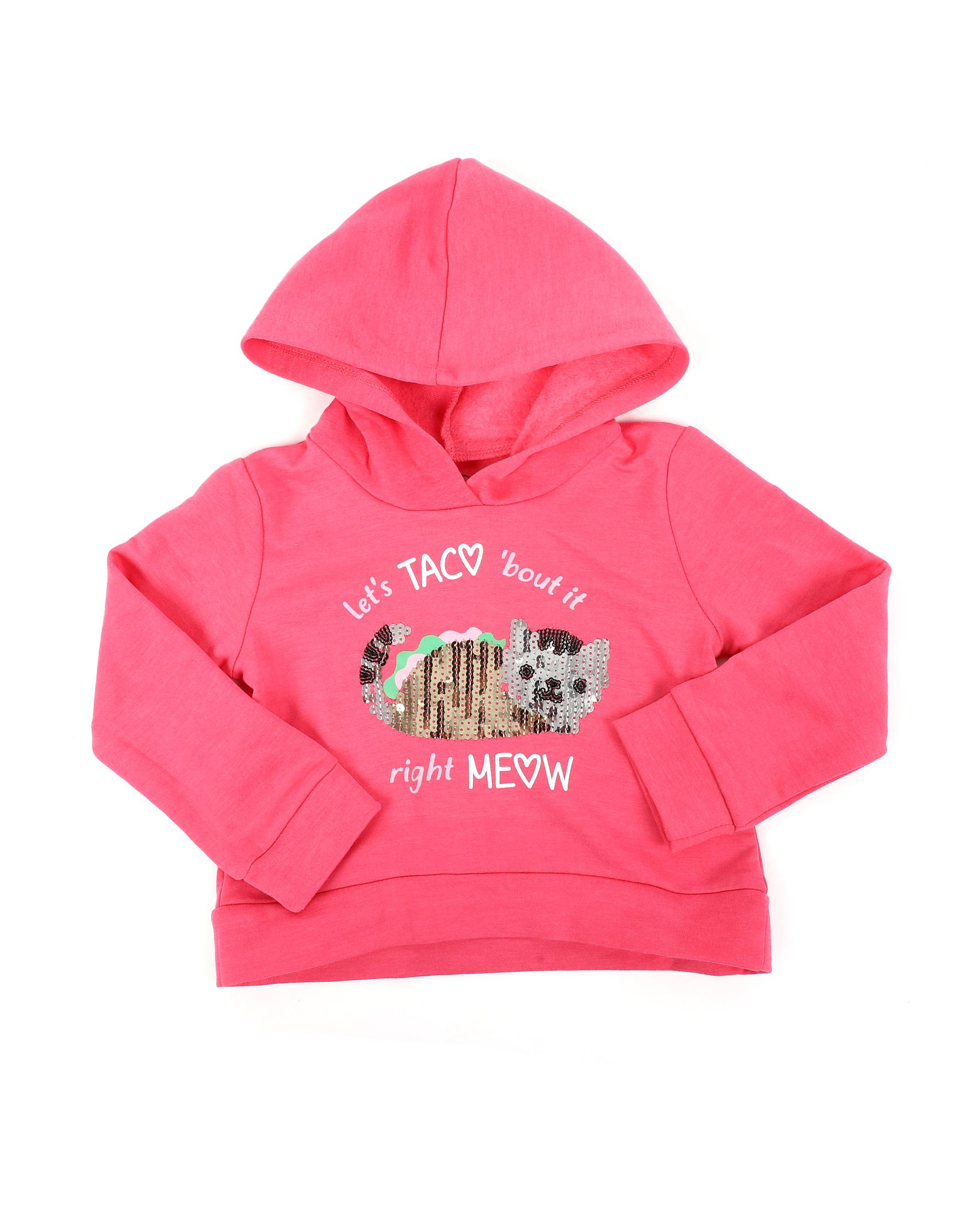 Reebok Toddler Girls/' Pullover Hoodie Azalea Pink 4T
