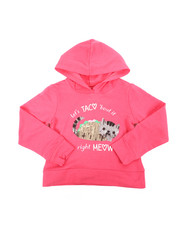Hoodies - Cropped Hooded Pullover Fleece Sweatshirt (4-6X)-2451303