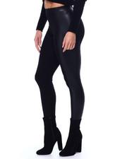 Leggings - Leggings w/ Faux Leather Side Trim-2452590