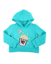Hoodies - Cropped Hooded Pullover Fleece Sweatshirt (2T-4T)-2451288