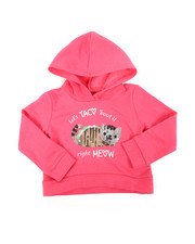 Hoodies - Cropped Hooded Pullover Fleece Sweatshirt (2T-4T)-2451299