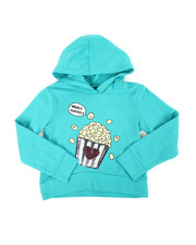 Hoodies - Cropped Hooded Pullover Fleece Sweatshirt (4-6X)-2451292