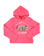 Hoodies - Cropped Hooded Pullover Fleece Sweatshirt (7-16)-2451307