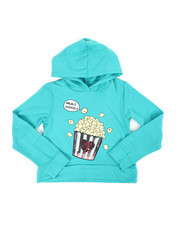 Girls - Cropped Hooded Pullover Fleece Sweatshirt (7-16)-2451295