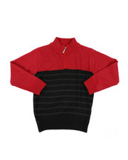 Sweatshirts & Sweaters - Quarter Color Block Striped Marled Sweater (4-7)-2451649