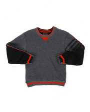 Sweatshirts & Sweaters - Color Blocked Fleece Crew Neck Sweatshirt (8-18)-2451644