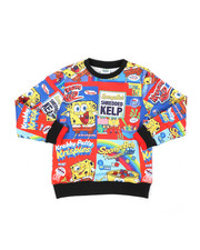 Sizes 4-7x - Kids - Cereal Boxes Crew Neck Sweatshirt (5-18)-2450684