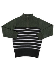 Sweatshirts & Sweaters - Quarter Color Block Striped Marled Sweater (4-7)-2451669