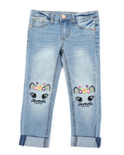 Girls - Cat Face Skinny Jeans (4-6X)-2453030