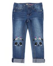 Bottoms - Panda Knee Skinny Jeans (4-6X)-2453005