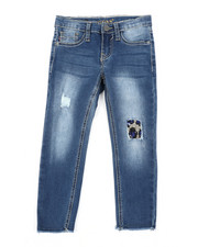 Girls - Leopard Patch Jeans (4-6X)-2453313