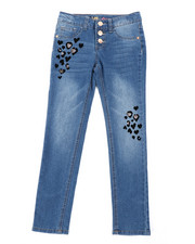 Jeans - Flocked Heart Skinny Jeans (7-14)-2452993