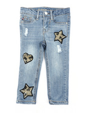 Girls - Fashion Ankle Leopard Star Jeans (2T-4T)-2453299