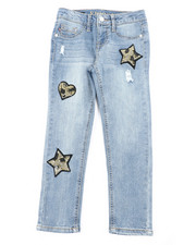 Girls - Fashion Ankle Leopard Star Jeans (7-16)-2453292