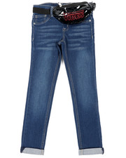 Girls - Jeans W/ Vibes Belt Bag (7-16)-2453589