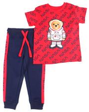 Arcade Styles - Crew Neck T-Shirt W/Fashion Jogger 2 PC Set (2T-4T)-2455126