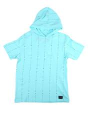 Tops - S/S Vertical Stripe W/Hood (8-20)-2454888