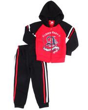 Arcade Styles - L/S Fleece Zip Up Hoodie & Fleece Jogger (2T-4T)-2455149