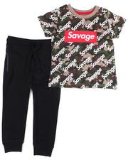 Arcade Styles - Crew Neck T-Shirt W/Fashion Jogger 2 PC Set (2T-4T)-2455145