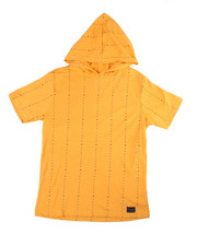 Tops - S/S Vertical Stripe W/Hood (8-20)-2454903