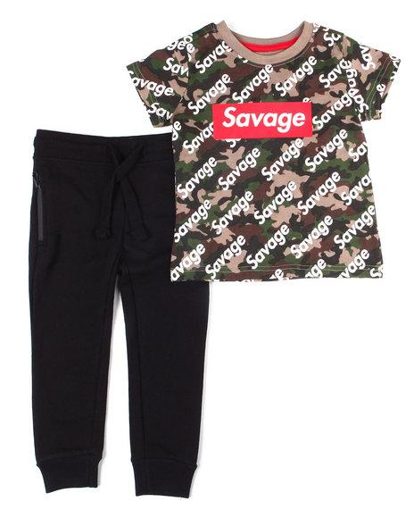 Arcade Styles - Crew Neck T-Shirt W/Fashion Jogger 2 PC Set (4-7)