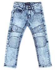 Phat Farm - Skinny Rip & Repair Washed Moto Denim Pants (4-7)-2455175