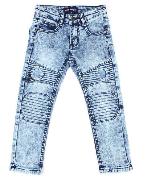 Phat Farm - Skinny Rip & Repair Washed Moto Denim Pants (4-7)