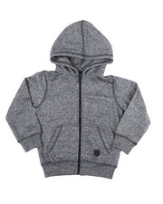 Outerwear - Melange Fleece Zip Up Hoody (2T-4T)-2455009