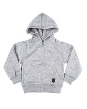 Outerwear - Melange Fleece Zip Up Hoody (2T-4T)-2455000
