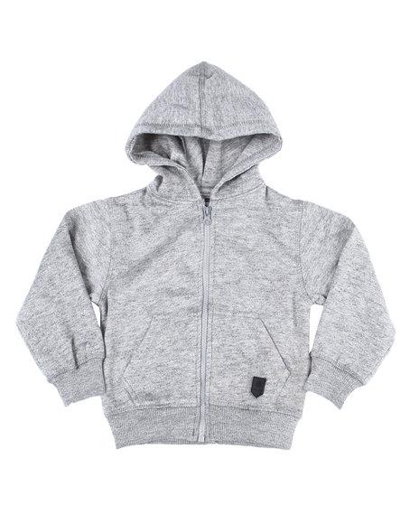 Arcade Styles - Melange Fleece Zip Up Hoody (2T-4T)