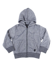 Outerwear - Melange Fleece Zip Up Hoody (4-7)-2455017